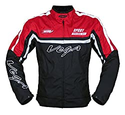 Vega JK 21 Riding Jacket (Red, Large)