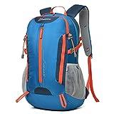 Mardingtop 30L 撥水 ハイキングディバッグ キャンプバッグパック旅行 アウトドアクライミングスクール リュック ザック レインカバー付き (ブルー)