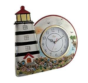 Light House Wall Decor Clock Home Kitchen