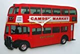 Red London Bus Camden Market Wooden Wall Clock - Gift Boxed