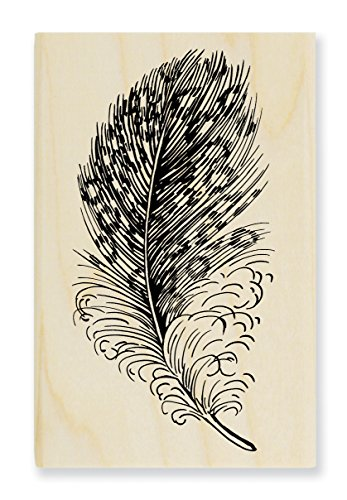 Stampendous Spotted Feather Rubber Stamp