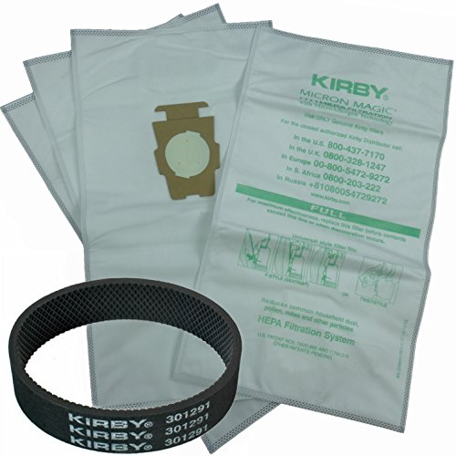 4 Kirby Allergen Micron Magic Universal F Style Turn Style Vacuum Bags & 1 Belt (Kirby Bags 204811 compare prices)