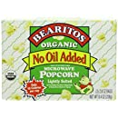 Bearitos Organic Microwave Popcorn, No Oil Added Lightly Salted, 3 Count (Pack of 12)