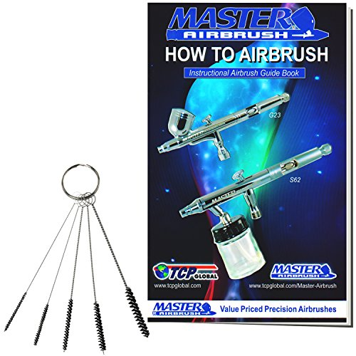 master-airbrush-brand-5-piece-mini-cleaning-brush-set-kit-clean-airbrush-paint-spray-gun-nozzle-tip-