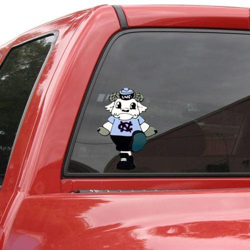 North Carolina Tar Heels Mascot Window Cling at Amazon.com