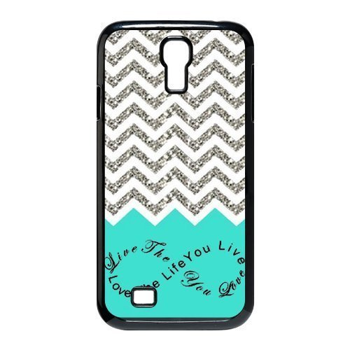 1 X EVERMARKET(TM) Colorful Chevron Pattern Live the Life You Love, Love the Life You Live Samsung Galaxy S4 9500 Durable Plastic Case Without Glitter (Samsung Galaxy S4 Ford Case compare prices)