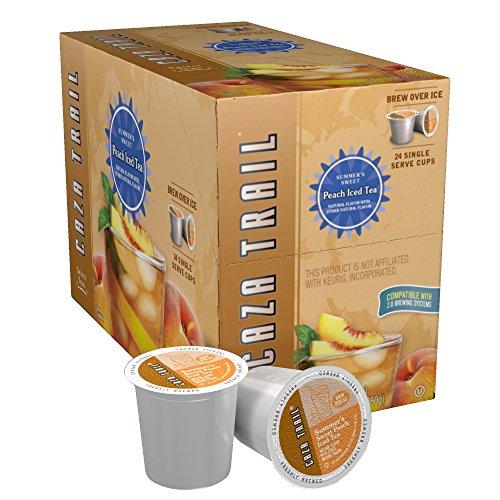 Caza Trail Tea, Summer's Sweet Peach Iced Tea, 24 Single Serve Cups (Keurig Tea K Cups Peach compare prices)
