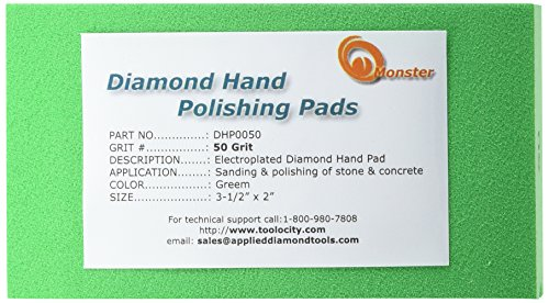 Monster DHP0050 Monster Diamond Hand Polishing Pads for Stone (Hand Stone Polishing compare prices)