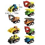 9 Pièces Véhicules de Construction Diverses Voitures Miniature Camion Jouet Cadeau Pour Enfants Garcon Fille