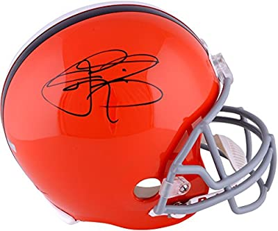 Johnny Manziel Cleveland Browns Autographed Orange Riddell Replica Helmet - Panini Authentic - Fanatics Authentic Certified