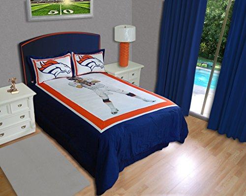 Nfl Biggshots Bedding - Denver Broncos Peyton Manning Comforter Set, Full front-804720