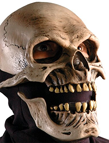 Death Reaper Skeleton Scary Skull Horror Latex Adult Halloween Costume Mask