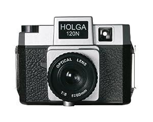 Holga 184120 120N Twi-Lite  Holgawood Collection Plastic Camera (Silver/Black)
