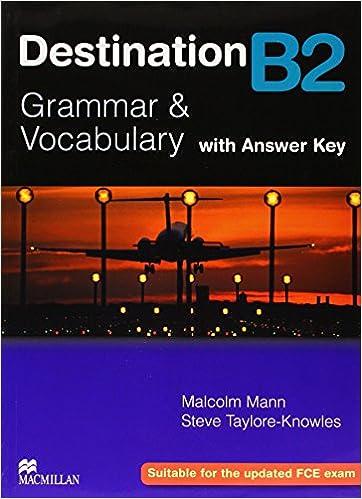 Destination Grammar B2: Student's Book with Key