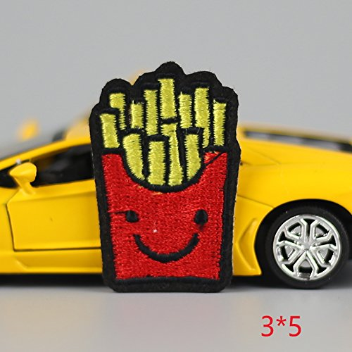 [FairyMotion Hot Sale 1Pc French Fries Red Children Iron On Embroidered Patch For Cloth Cartoon Badge Garment Appliques Diy Accessory Perfect] (Child Star Wars Costume Australia)