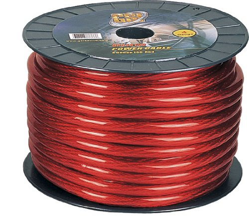 Gsi Gpc4R100 4 Gauge Power.Ground Cables (Red)