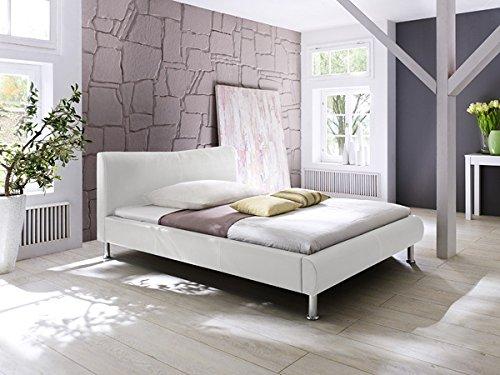 Polsterbett Bett 5021020000 Kunstleder weiß 120x200cm