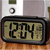HawksTech LED Screen Alarm Clock with Night Vision (Black)