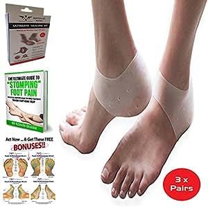 Amazon.com: Heel Pain Gel Pads 3 Pairs Plantar Fasciitis