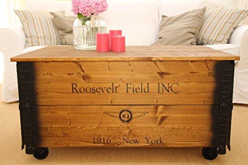 couchtisch truhe holzkiste beistelltisch vintage shabby. Black Bedroom Furniture Sets. Home Design Ideas