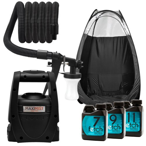 Maxi-Mist Mate Black Spray Tanning Tent Hvlp Machine Fetch Sunless Dha Kit 2A front-473061