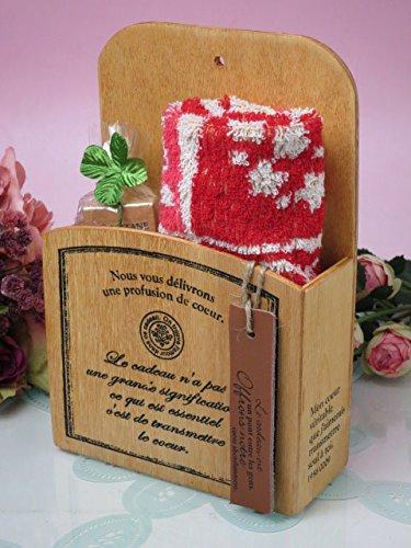 ギフト ロクシタン ウッドボックス タオルセット ハンドタオル+ロクシタンハンドクリーム ( シア )