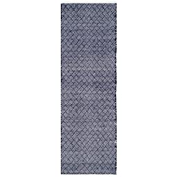 Safavieh Boston Collection BOS680D Handmade Navy Cotton Runner, 2 feet 3 inches by 7 feet (2\'3\