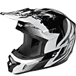 Fly Racing Kinetic Inversion Adult Motocross/Off-Road/Dirt Bike Motorcycle Helmet - Black/White / Medium