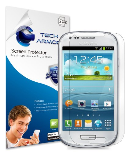 Tech Armor Samsung Mini Galaxy S III Mini Premium High Definition (HD) Clear Screen Protector with Lifetime Replacement Warranty [3-Pack] - Retail Packaging