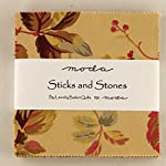 """Sticks and Stones Moda Charm Pack By Laundry Basket Quilts; 42 - 5"""" Precut Fabric Quilt Squares"""