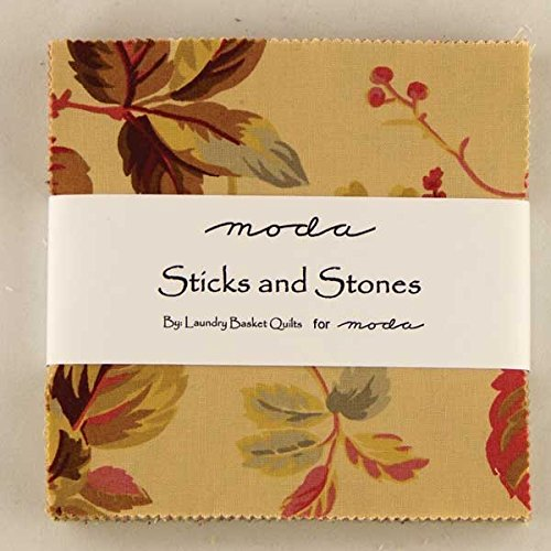 Sticks and stones moda charm pack by laundry basket quilts for Sticks and stones landscaping