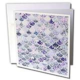 3dRose Uta Naumann Faux Glitter Pattern - Image of Purple Silver Shiny Luxury Elegant Mermaid Scales Glitter - 12 Greeting Cards with envelopes (gc_275450_2) (Tamaño: Set of 12 Greeting Cards)