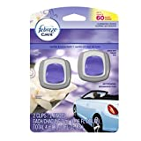 Febreze Car Vent Clips Air Freshener, Vanilla and Moonlight, 2 Count
