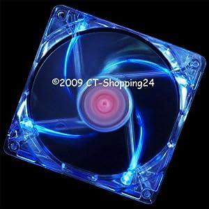 XILENCE Gehäuselüfter COO-XPF80.TBL 80x25mm (Blaue LED) (2 Stück)