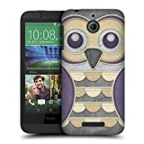 Head Case Designs Purple Owl Patchwork Protective Snap-on Hard Back Case Cover for HTC Desire 510