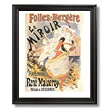 French Miroir Vintage Poster Ad Home Decor Wall Picture Black Framed Art Print