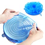 ORBLUE Silicone Stretch Lids, 6-Pack...