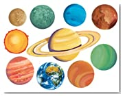 Wallies Planets and Sun Wallpaper Mural