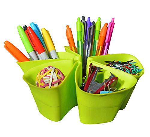 Desktop Organizer-InStyle Organizer(tm)-Office Organization,Pencil Holder for Computer Desktop Accessories-Modern Art Design-Five Easy to Use Compartments
