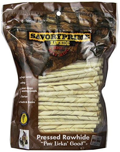 Artikelbild: Savory Prime Twist Stick Dog Chewable Natural Pet Chew Treats White 5in 100Pack