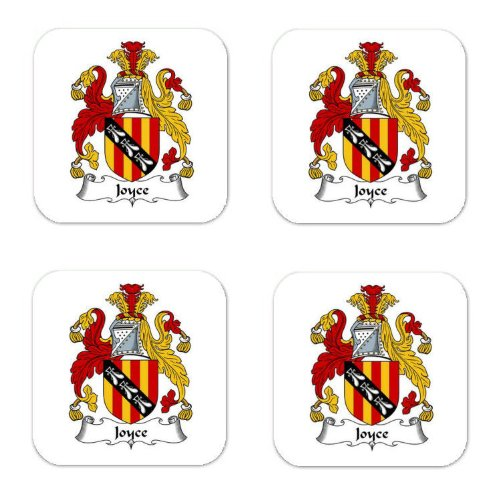 Joyce Family Crest Square Coasters Coat of Arms Coasters - Set of 4