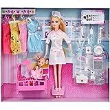 HLDIY Children's Fashion Doll Nurses Barbie Dolls with Accessories Toys Set