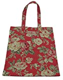 Cath Kidston NEW Cotton Book Bag Garden Rose Floral Red