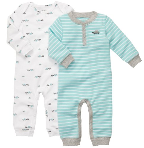 Carter'S Baby Boys' 2 Pc Coverall Set - Boy - 6 Months front-921057