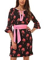 Almatrichi Vestido Oasis (Negro / Rojo / Rosa)