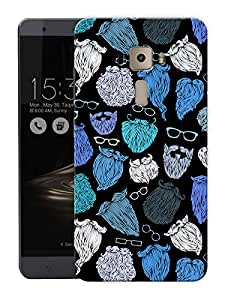 """Life Is All About BeardPrinted Designer Mobile Back Cover For """"Asus Zenfone 3 Ze552kl"""" (3D, Matte, Premium Quality Snap On Case)"""