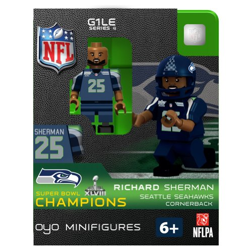 Richard Sherman Champ NFL Seattle Seahawks Oyo Series 1 Minifigure at Amazon.com