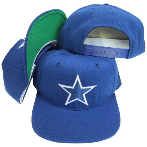 Dallas Cowboys Vintage Blue Plastic Snapback Adjustable Snap Back Hat / Cap
