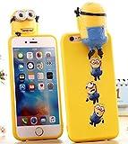 minion 可愛い iPhone6sケース 3D 立体 ミニオン シリコンケース iPhone6ケース 4.7インチ カバー アイフォン6sケース KK31