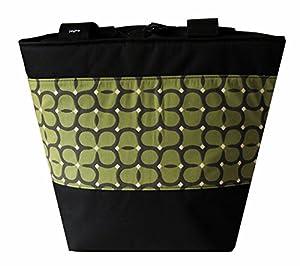 Jayna Bags Women's Large Multipurpose Four Leaf Edge Tote Fern-Green Charcoal Black